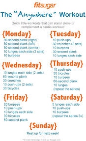 30 day home workout plan best of busy week here s your quick 7 day workout