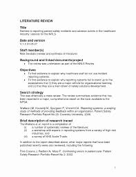 Literature Review Template Apa Images Of Lit Vanscapital Comt Sample