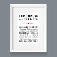 Lustige Hausordnung Für Oma Und Opa J Designeriede