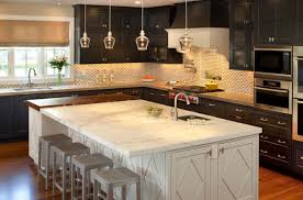 kitchen glass pendant lighting. Delicate Eureka Snowlab Glass Pendant Lights Above A Marble Counter Kitchen Lighting V