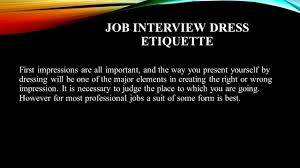 Dos And Don Ts In Job Interview Ppt Video Online Download