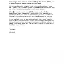 Letter Of Recommendation For A Judge Character Letter For Judge Character Reference Letter For A Judge