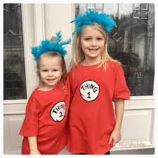thing 1 thing 2 diy costume dr seuss birthday and read across