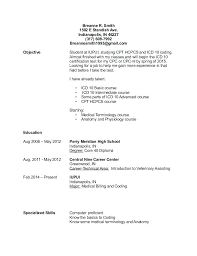 Medical Billing And Coding Externship Resume Sample