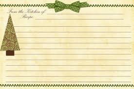 Printable Christmas Recipe Cards Free Family Recipe Templates Free Printable Christmas Recipe Cards