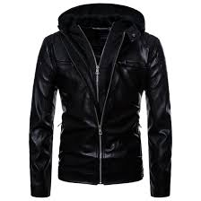 Discount Designer Mens Leather Jackets Men Locomotive Leather Jackets Mens Hoodie Pu Coat Jaqueta De Couro Masculina Fashion Designer Slim Leather Outwear
