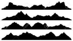 Mountain Silhouette mountain silhouettes on the white background royalty  free cliparts