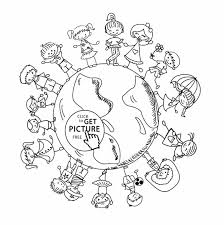 Small Picture Coloring Page Earth Day Coloring Page For Kids Pages Globe And All