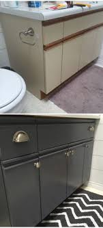 bathroom update how to paint laminate cabinets