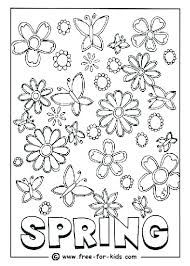 Spring Coloring Pages For Free Spring Coloring Pages Free Kids