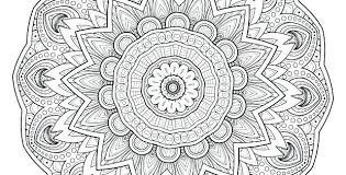 Easy Mandala Coloring Pages Printable Free For Adults Flower