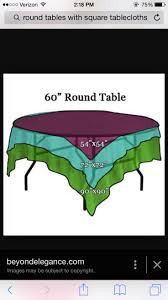 what size tablecloth overlay for 60 round table best
