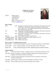 Academic Cv Example Download Best Cv Format Recentresumes Com