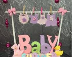 Baby Shower Baby Clothesline Theme Centerpiece Cake Topper Decoration  Choose Boy or Girl