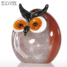 Owl Home Decor Accessories Magnificent Tooarts Chubby Owl Figurine Glass Ornament Animal Statuettes Home