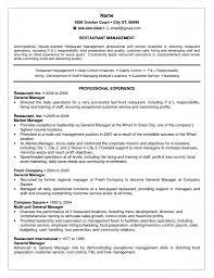 Restaurant Manager Job Description Resume Resume Online Builder