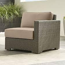 ventura modular right arm chair with sunbrella cushions