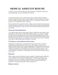 Medical Resume Template Free medical assistant resume samples entry level resumesamples Home 82