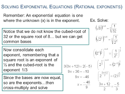 12 solving exponential equations