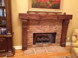 Railroad Tie Mantle custom fireplace mantels asheville nc for the home pinterest 5016 by xevi.us