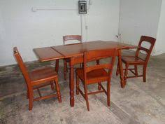 vine country retractable maple dining room table 4 chair set set