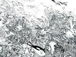 Underwater Coloring Pages Realistic Underwater Coloring Pages