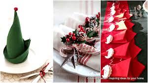 Christmas Table Setting Super Delicate Napkin Ideas For Your Christmas Table Setting
