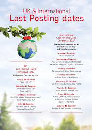 Post Office Christmas 2017 Last Posting Dates Westbury Town