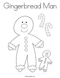 Small Picture Gingerbread Man Coloring Page Twisty Noodle