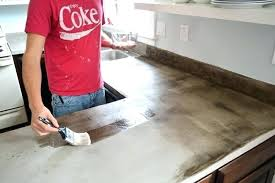 concrete countertops over laminate easy concrete over existing laminate