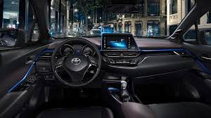 the dashboard of the toyota c hr