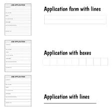 Objective Job Application Job Application Forms Differentiated With Job Objective Mini Lesson