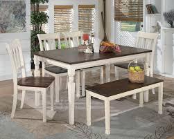 Signature Design By Ashley Whitesburg 6 Piece Rectangular Table Set