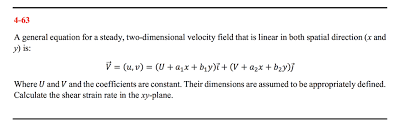 4 63 a general equation for a steady two dimensional velocity field that