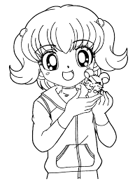 Chibi Panda Coloring Pages Copy Cute Colouring For Girls Girl