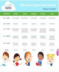 After School Program Schedule For Kids Template Definition