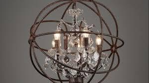 enchanting orb crystal chandelier of rh industrial lighting restoration hardware vintage