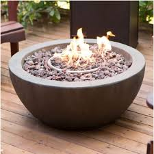 28 inch round gray enviro stone fire pit bowl with propane tank hideaway table
