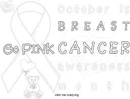 Breast Cancer Ribbon Coloring Page Breast