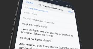 Short Email Cover Letters 7 Things Every Ux Designer Cover Letter Needs