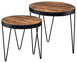 2 piece coffee table set nesting tables 2 piece nesting table set with hairpin legs alter