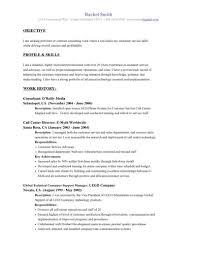 Sample Resume Objectives For Customer Service Gentileforda Com