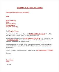 Sample Employment Offer Letter Template Company Offer Letter Template Free Word Pdf Format Download
