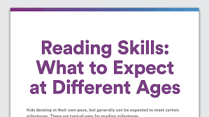 literacy development reading skills to expect at different ages