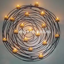 circle wall candle holder best iron circular design large sconces for candles vibrant inspiration decor ambit