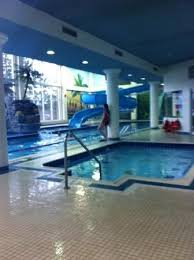indoor pool and hot tub with a slide. Simple Indoor Nottawasaga Inn Resort  Hot Tub And Water Slide View In Indoor Pool And Tub With A