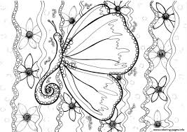 Print Adult Butterfly By Zenfeerie Coloring