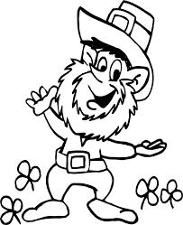 Get crafts, coloring pages, lessons, and more! Leprechaun Coloring Page Coloring Home