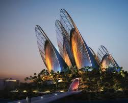 The Zayed National Museum, designed by Sir Norman Foster