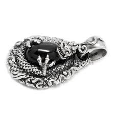 dragon pendant starstone cintamani dragon 925 sterling silver pendant mens necklaces